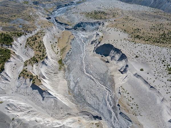 Loowit Creek Aerial - Mount St  Helens