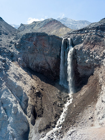 Loowit Falls Aerial - Mount St  Helens-2