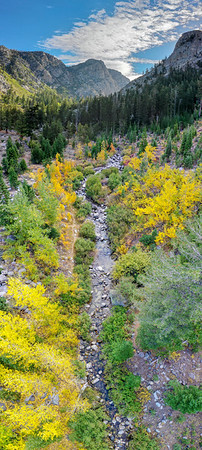 Deadman Creek Morning Fall Colors Panorama Aerial - Sonora Pass-4