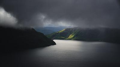 Aerials of Norwegian landscape