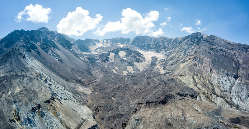 The Breach Aerial Panorama - Mount St  Helens