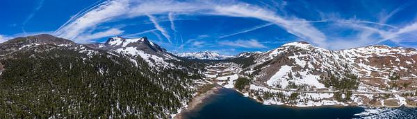 Tioga Lake and Tioga Pass Panorama Aerial - Ansel Adams Wilderness