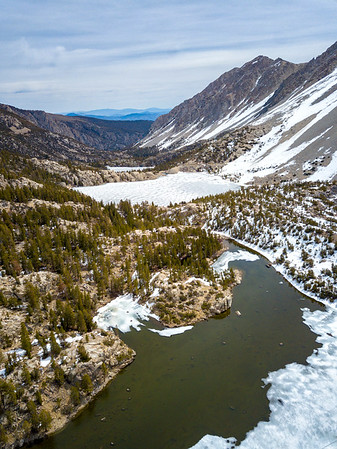Big Pine Lakes and Temple Crag - John Muir Wilderness Aerials-7