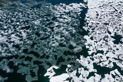 Tioga Lake Icebergs Aerial - Ansel Adams Wilderness