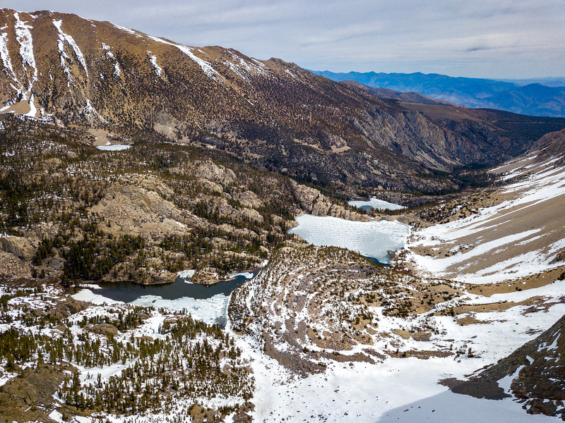 Big Pine Lakes and Temple Crag - John Muir Wilderness Aerials-3