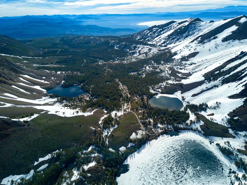 Virginia Lakes and Mono Lake Frozen - Highway 395-2