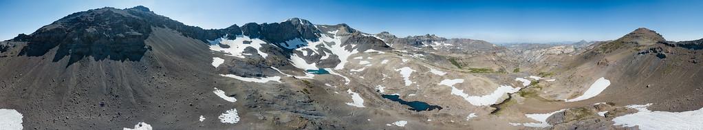 Unnamed Lake Leavitt Peak Panorama - Sonora Pass