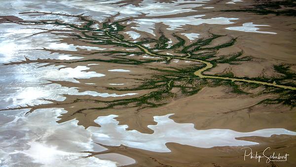 Tidal Creeks near Derby in Western Australia.