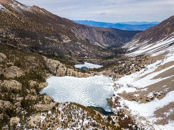 Big Pine Lakes and Temple Crag - John Muir Wilderness Aerials-6