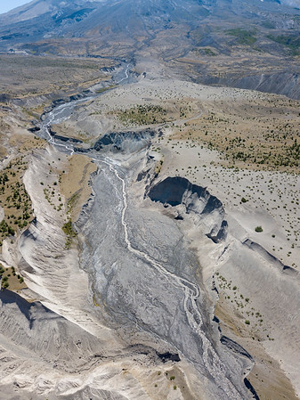 Loowit Creek Aerial - Mount St  Helens-2