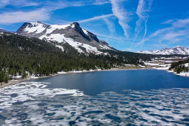 Tioga Lake Icebergs Aerial - Ansel Adams Wilderness-2