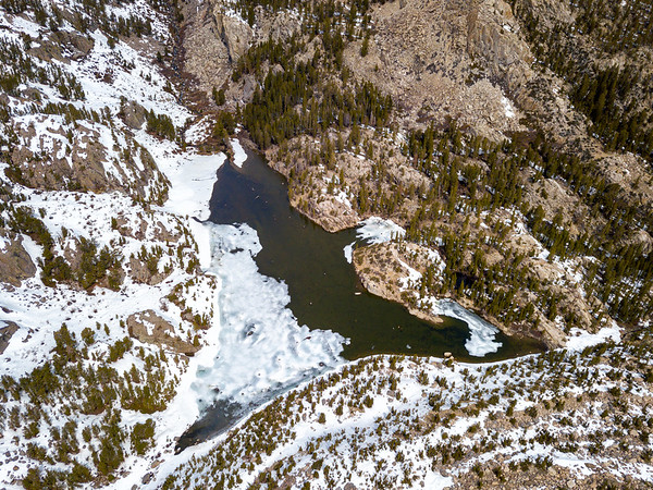 Big Pine Lakes and Temple Crag - John Muir Wilderness Aerials-5