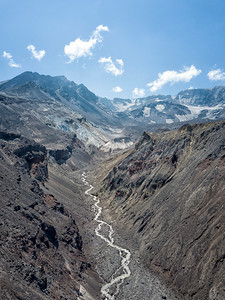 Loowit Creek and The Breach Aerial - Mount St  Helens-2