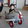 Fitchburg Municipal Airport held an Aero Fair on Saturday for all ages. Having some fun in a toy plane in the hanger at the fair is Xander Pilgrim, 21 months, of Leominster. SENTINEL & ENTERPRISE/JOHN LOVE