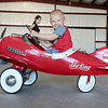 Fitchburg Municipal Airport held an Aero Fair on Saturday for all ages. Having some fun in a toy plane in the hanger at the fair isWarren Mayhew III, 2, from Lunenburg. SENTINEL & ENTERPRISE/JOHN LOVE