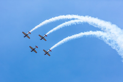 UK's aerobatic display team 'Yakovlevs'
