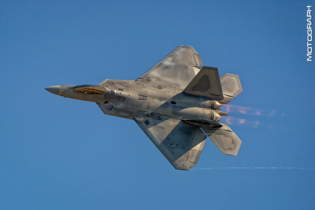 The Lockheed Martin F-22 Raptor stealth fighter
