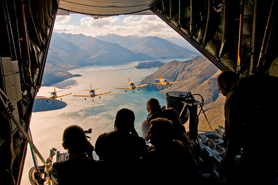 The view from the back of the Hercules The Red Checkers Wanaka, 2008