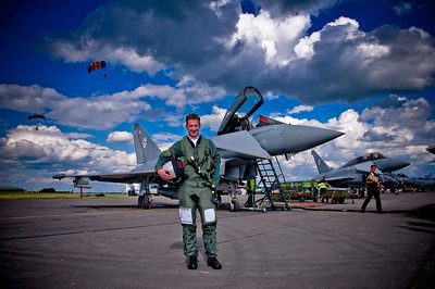 Flight Lieutenant Charlie Matthews RAF Eurofighter Typhoon Display Pilot 2008 at Kemble, 2008 (Flt Lt Matthews is a New Zealander from Wanaka)