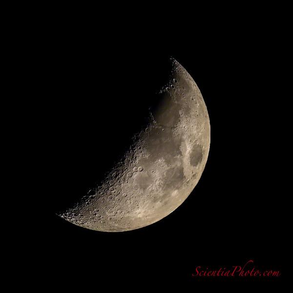 Moon Approaching 1st Quarter