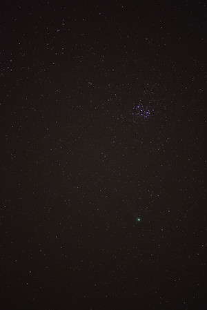 The Pleiades & Comet Lovejoy Photographed Jan 16, 2015.