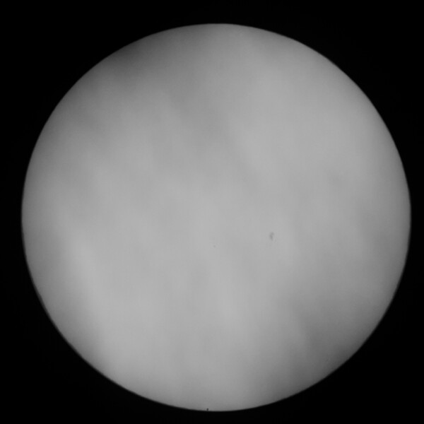 Transit of Mercury May 9, 2016. Mercury is at 6 O'clock position on the limb.