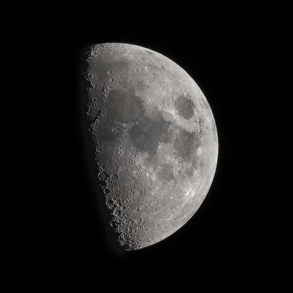 Moon at Just Past 1st Quarter