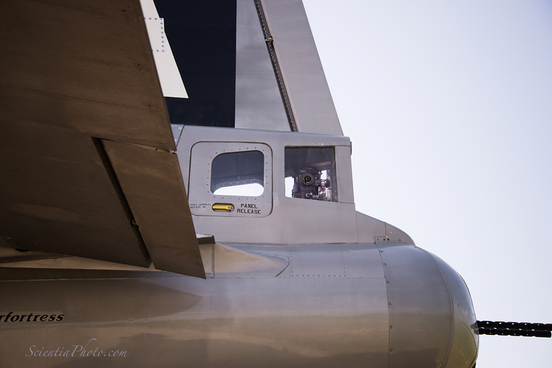 B-29 Tail Gunner's Station  - Note Remote Control Sighting Mechanism