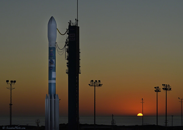 Farewell to Soumi NPP as it Sits Atop the Delta 5 Launch Vehicle at L-12<br /> (5x7)
