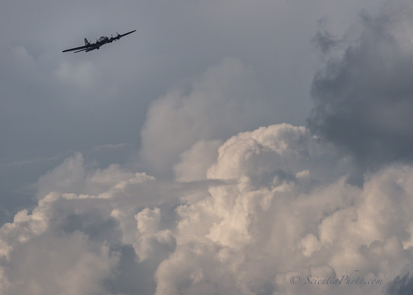 Memphis Belle Skirts the Storm Clouds