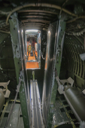 Bomb Bay <br /> (Note V-shaped Reinforcing Structure  ... & a Tight Passage! Also, Waist Gunner's Stations Beyond)