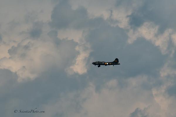 B-17 Approaching a Landing