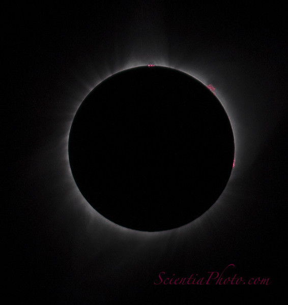 Solar Prominences - Total Solar Eclipse of August 21, 2017