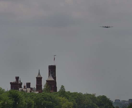 B-29 Superfortress & the Smithsonian Castle