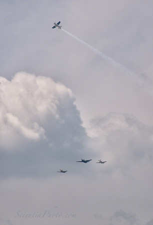 The Missing Man Formation at the VE 2015 Celebration at the Washington Mall