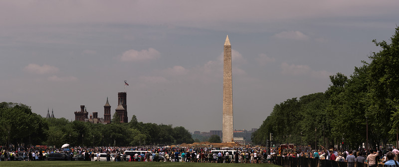 View from the East End of the Mall Prior to the Flyover