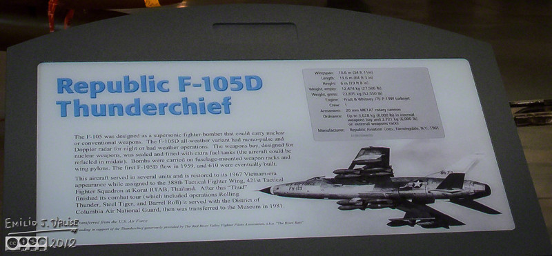 "Next up, the Republic F-105D Thunderchief.<br /> <br />  <a href=""http://en.wikipedia.org/wiki/Republic_F-105_Thunderchief"">http://en.wikipedia.org/wiki/Republic_F-105_Thunderchief</a>"