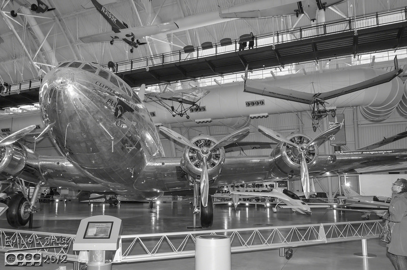 The next plane, the Boeing 307 Stratoliner, is also one that shows well in Black and White, although the color photos are not bad.