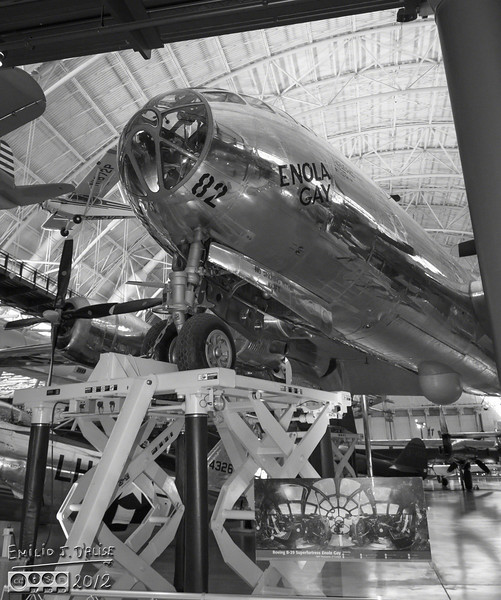 The Enola Grey . . . I was glad to see this plane here, and all in one piece.  Last I had seen her, she was in pieces, part of a politically-correct display at the Air & Space Museum at the National Mall.