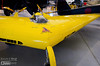 The Northrop N-1M Flying Wing is small.  Frankly, I did not see enough room even for a small pilot.<br /> <br /> But flown it was, so I'm imagining the pilot's legs hanging below the fuselage, running along the ground to provide additional propulsion as the wing attempted to get off the ground.