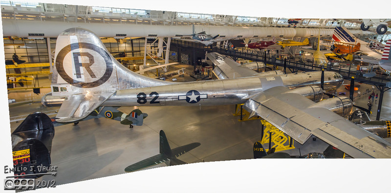 Here's a panorama of the Enola Gay. Impressive plane.