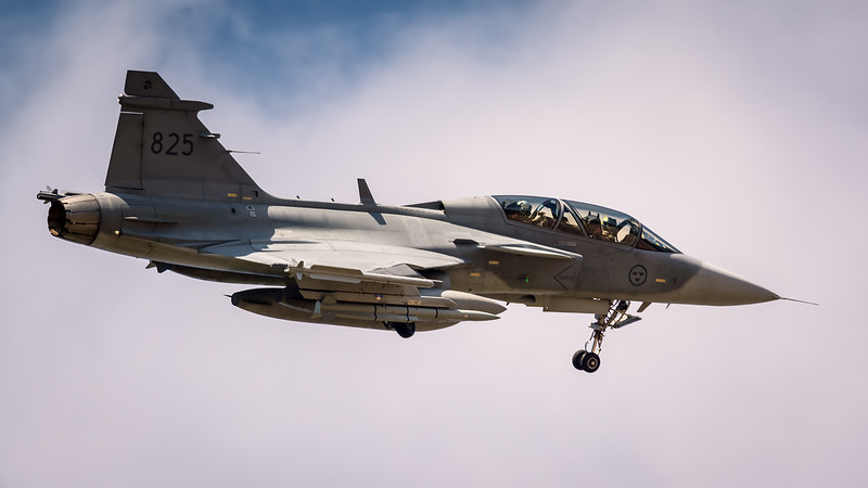 825 Swedish Air Force Saab JAS 39D Gripen