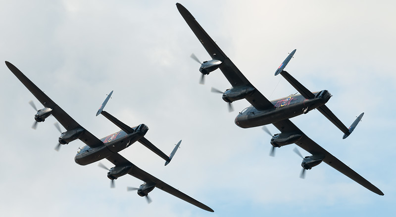 Canadian and BBMF Avro Lancasters