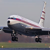 Qantas (Qantas Foundation Memorial) Boeing 707-138B. Post restoration airtest, Southend. 02DEC06