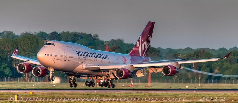 G-VFAB 'Lady Penelope', Gatwick, 23MAY10 @ 05:30 am..