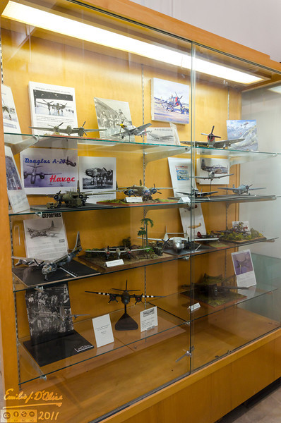 The museum has a lot of paraphernalia, models, souvenirs from the WW II era.