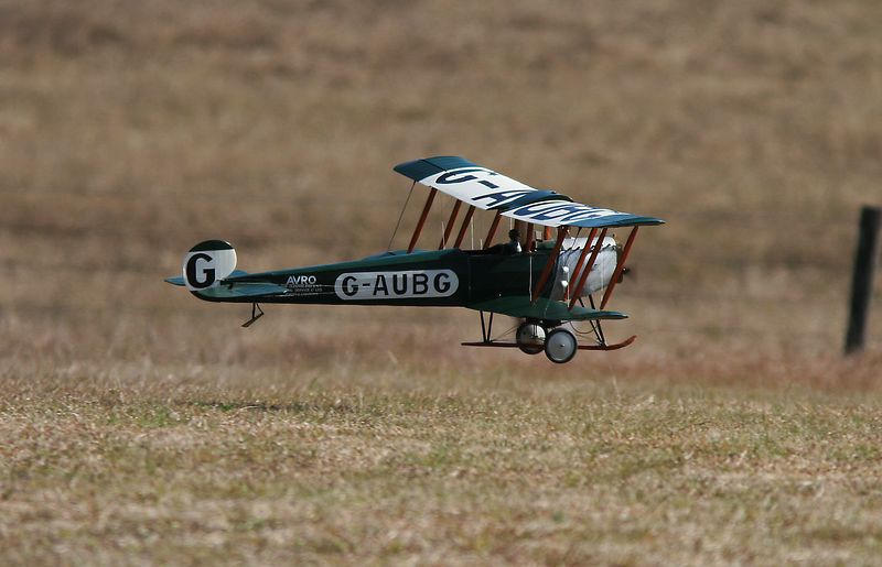 "A model of Qantas' first aircraft, the Avo 504K. Here taking off at Sydney Model Engineers' site at Luddenham NSW.<br /> This image won a Merit Award at Pennant Hills Photographic Club ""50 cm from the ground"" competition on 15.8.05 Judge Yvonne Lewington."