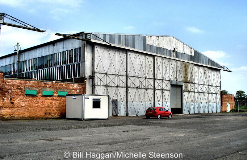 Second World War hanger at Long Kesh airfield.