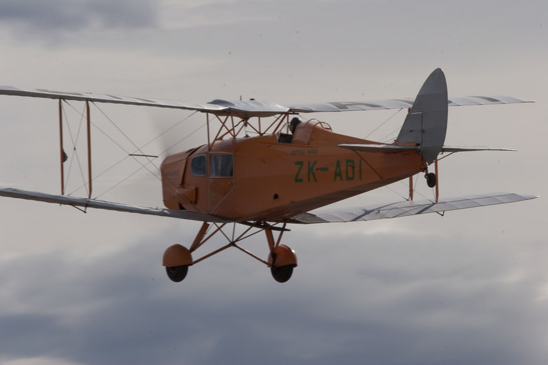DH-83 Fox Moth. One of only two in NZ. The other is stored in the museum at Wanaka.  The Fox Moth is still owned by the Croydon Aviation Heritage Trust and hasn't been sold or offered for sale.The numbers airworthy worldwide would be somewhere near 6 - 8 with two in NZ (two nearing restoration end, one of which is with us), two (?) in Australia, two (?) in the UK and possibly one or two elsewhere around the world. Information from Ryan Southam, the Chief Pilot for the Croydon Aircraft Company in Mandeville New Zealand.