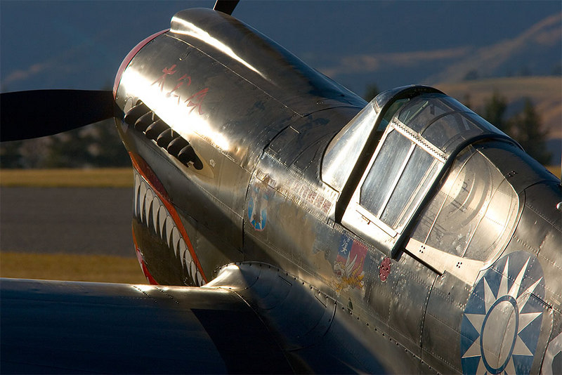Kittykawk shows the patina of its age in the late afternoon sun at Wanaka.